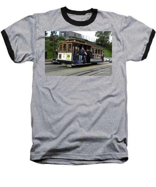 Baseball T-Shirt featuring the photograph Powell And Market Street Trolley by Steven Spak