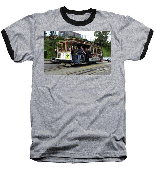 Powell And Market Street Trolley Baseball T-Shirt