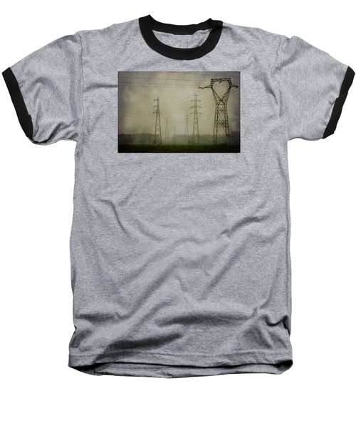 Power 5. Baseball T-Shirt by Clare Bambers