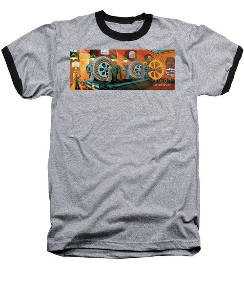 Power Plant Turbines Baseball T-Shirt