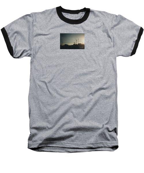 Untitled Street Scene Baseball T-Shirt