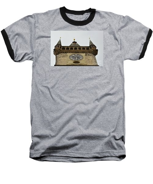 Baseball T-Shirt featuring the digital art Prague-architecture 2 by Leo Symon