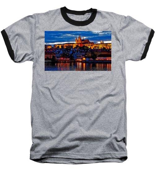 Prague Castle In The Evening Baseball T-Shirt