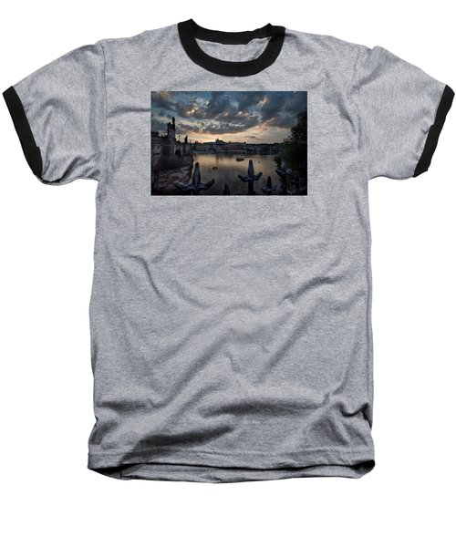 Prague Castle Baseball T-Shirt by James David Phenicie