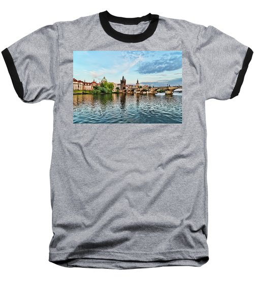Prague From The River Baseball T-Shirt
