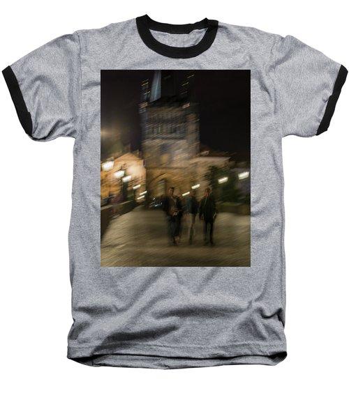 Baseball T-Shirt featuring the photograph Prague Nights by Alex Lapidus