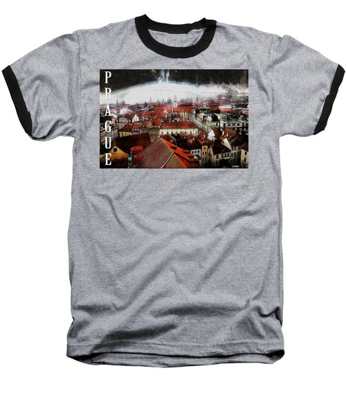 Prague Old Town Poster Baseball T-Shirt by Kai Saarto