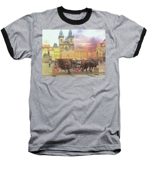 Prague Old Town Square Baseball T-Shirt