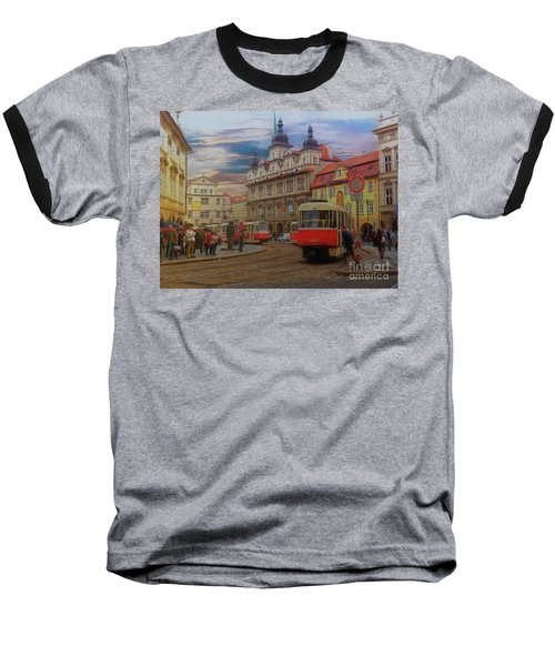 Prague, Old Town, Street Scene Baseball T-Shirt