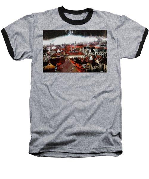 Prague Skyline Baseball T-Shirt