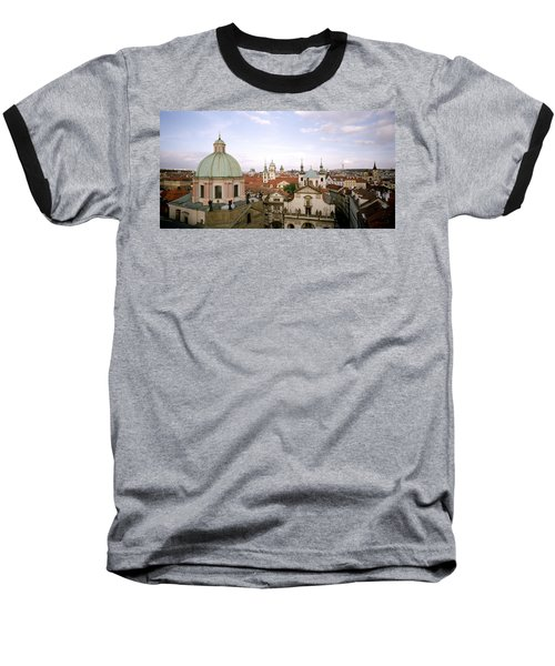 Prague Twilight Baseball T-Shirt by Shaun Higson