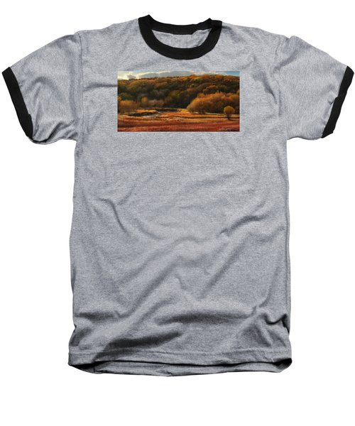 Prairie Autumn Stream No.2 Baseball T-Shirt