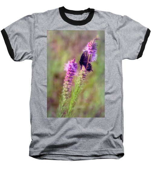 Prairie Butterfly Baseball T-Shirt