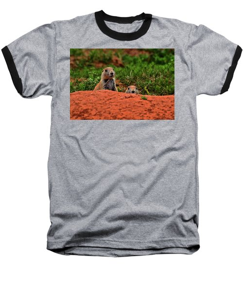 Baseball T-Shirt featuring the photograph Prairie Dogs 004 by George Bostian