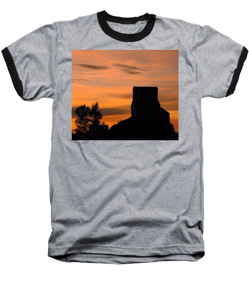 Prairie Dusk Baseball T-Shirt by Tony Beck