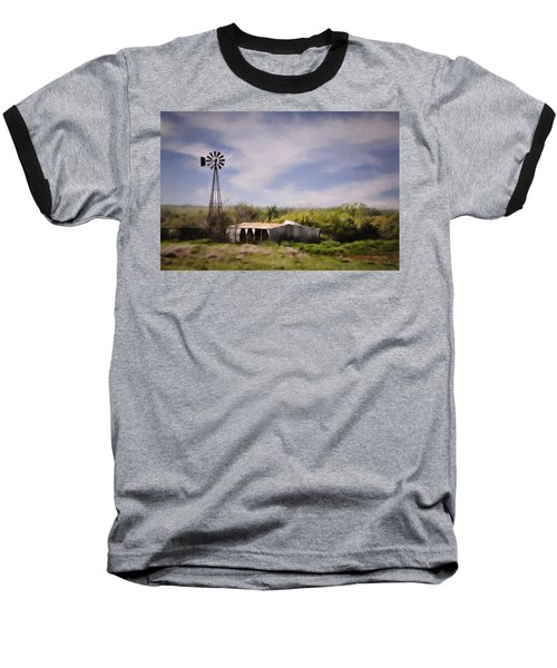 Prairie Farm Baseball T-Shirt by Lana Trussell