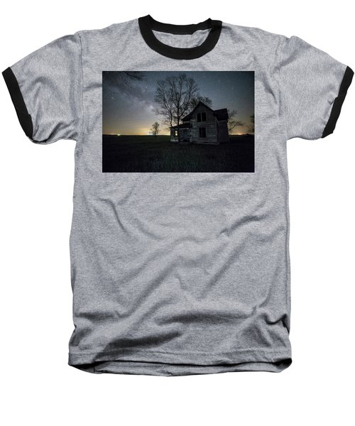 Baseball T-Shirt featuring the photograph Prairie Gold And Milky Way by Aaron J Groen