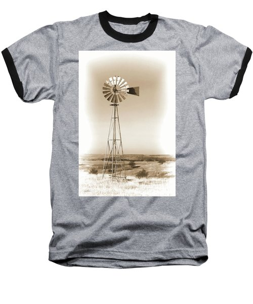 Prairie Guardian Baseball T-Shirt by Sylvia Thornton