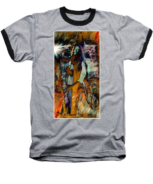 Praise Him With The Harp IIi Baseball T-Shirt by Anastasia Savage Ealy