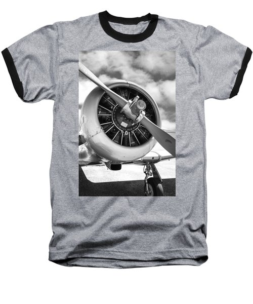 Pratt And Whitney R1340 Wasp Radial Engine Baseball T-Shirt by Chris Smith