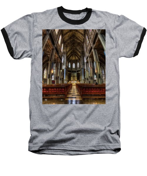 Our Lady Of Nahuel Huapi Cathedral In The Argentine Patagonia Baseball T-Shirt