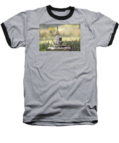 Prayer For The Animals That Bless Our Lives Baseball T-Shirt by Bonnie Barry