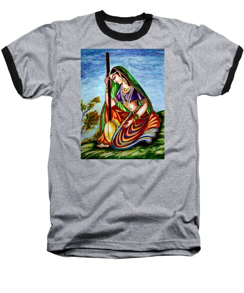 Krishna - Prayer Baseball T-Shirt
