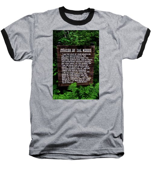 Prayer Of The Woods Baseball T-Shirt