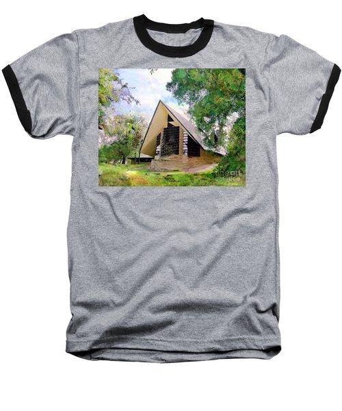 Praying Hands Baseball T-Shirt by John Robert Beck