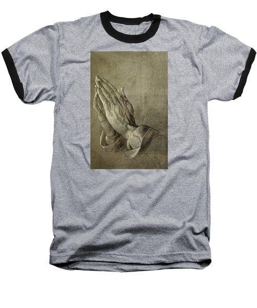 Praying Hands Baseball T-Shirt