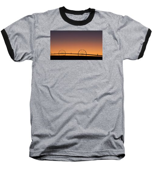 Baseball T-Shirt featuring the photograph Pre-dawn Orange Sky by Monte Stevens
