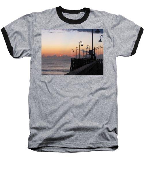 Pre-sunrise On Daytona Beach Pier   Baseball T-Shirt