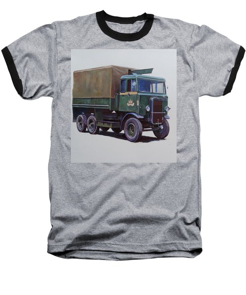 Baseball T-Shirt featuring the painting Pre-war Leyland Wrecker. by Mike Jeffries