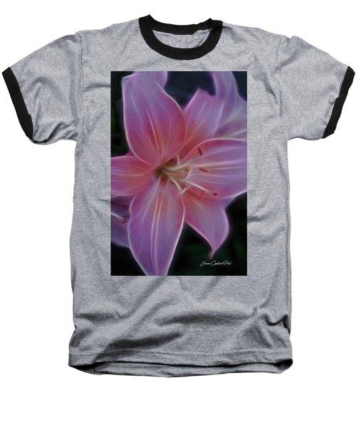 Precious Pink Lily Baseball T-Shirt by Joann Copeland-Paul
