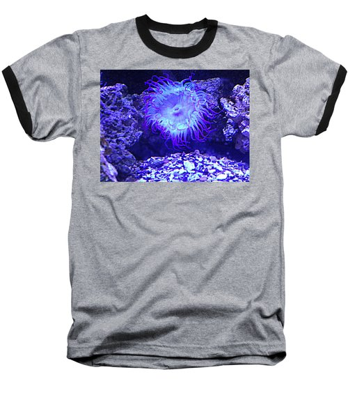 Baseball T-Shirt featuring the photograph Predatory Terrestrial Sea Anemone by Richard W Linford