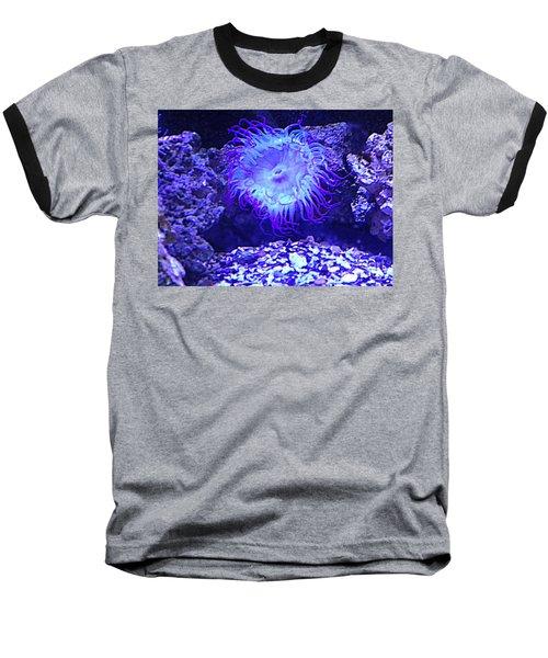 Predatory Terrestrial Sea Anemone Baseball T-Shirt