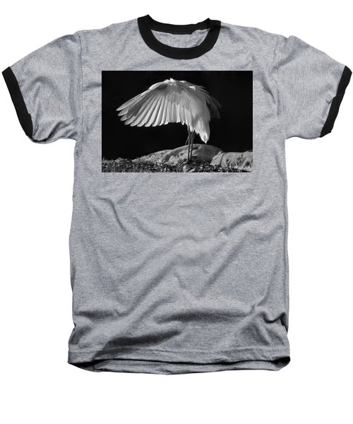 Preening Great Egret By H H Photography Of Florida Baseball T-Shirt