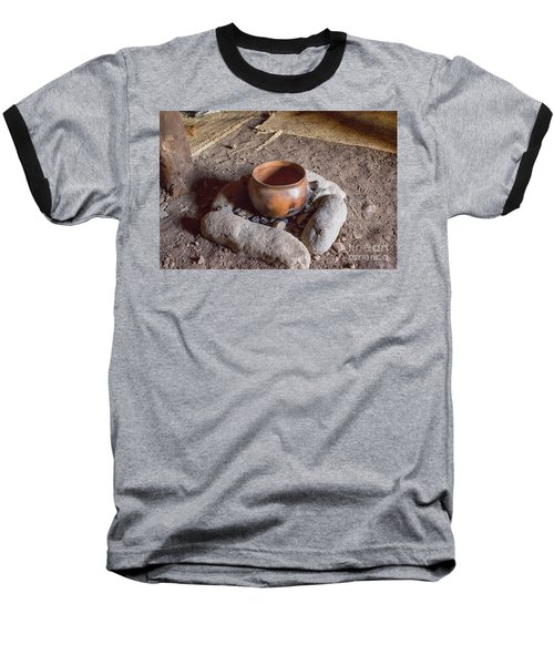 Baseball T-Shirt featuring the photograph Prehistoric Cooking  by Patricia Hofmeester