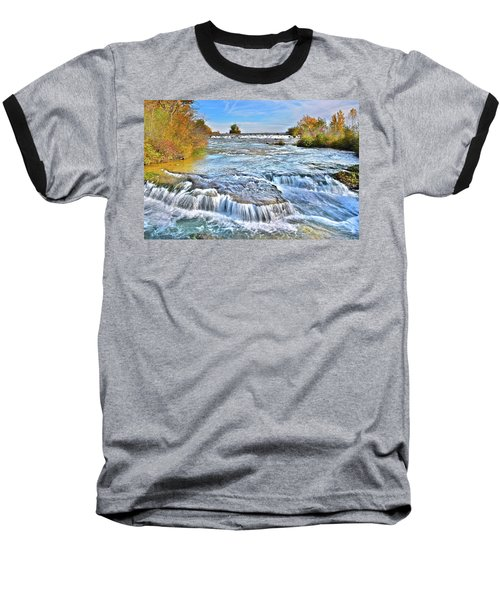 Baseball T-Shirt featuring the photograph Preparing For The Big Fall by Frozen in Time Fine Art Photography