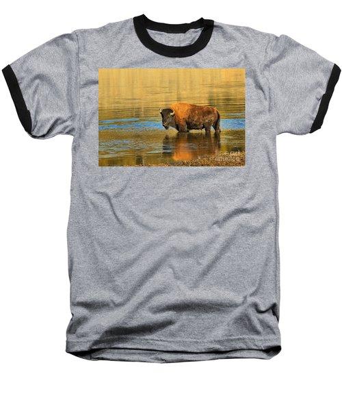 Baseball T-Shirt featuring the photograph Preparing To Swim The Yellowstone by Adam Jewell
