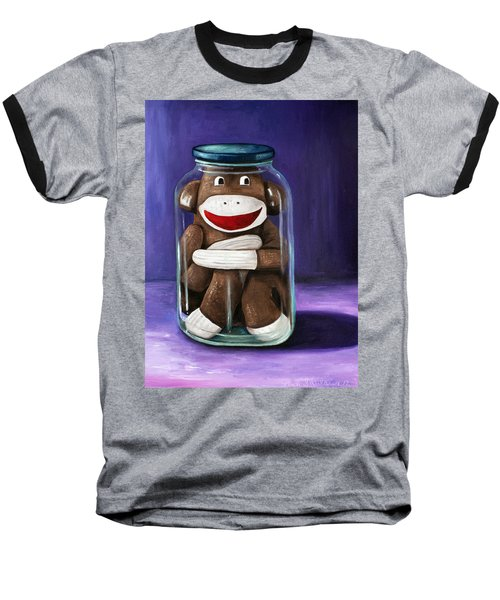 Preserving Childhood 3 Baseball T-Shirt by Leah Saulnier The Painting Maniac
