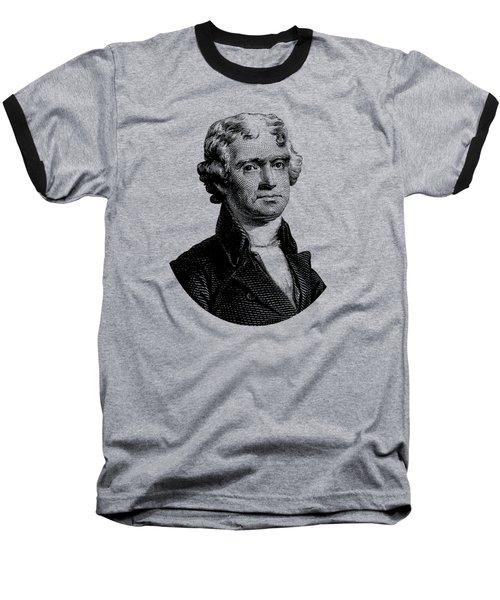 President Thomas Jefferson Graphic Baseball T-Shirt