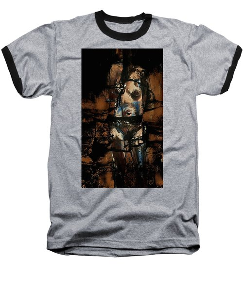 Baseball T-Shirt featuring the painting Pressure Cracked by Jim Vance