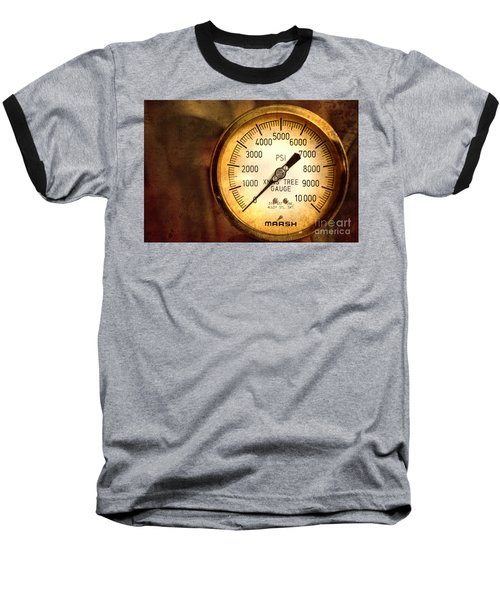 Pressure Gauge Baseball T-Shirt by Charuhas Images