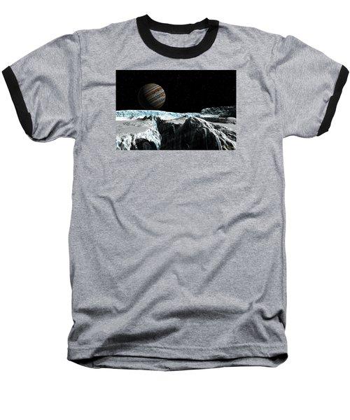 Baseball T-Shirt featuring the digital art Pressure Ridge On Europa by David Robinson