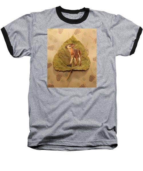 Pretty Baby Deer Baseball T-Shirt by Ralph Root