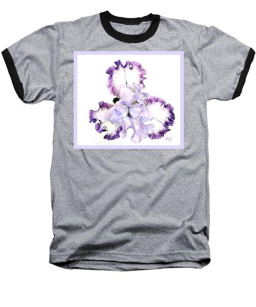 Pretty Baby Iris Baseball T-Shirt by Marsha Heiken