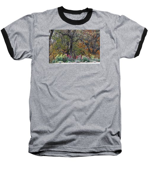 Pretty Display Baseball T-Shirt by Yumi Johnson
