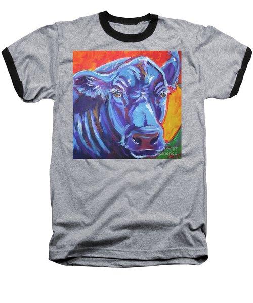 Pretty Face Cow Baseball T-Shirt