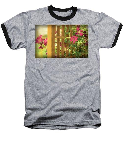 Pretty Flower Garden Baseball T-Shirt